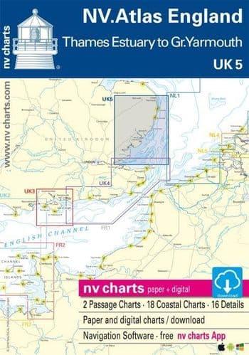 UK 5: NV Atlas England - Thames Estuary To Great Yarmouth